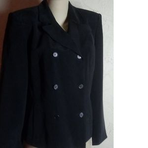 Jones New York Black 100$ Silk Blazer Size 8
